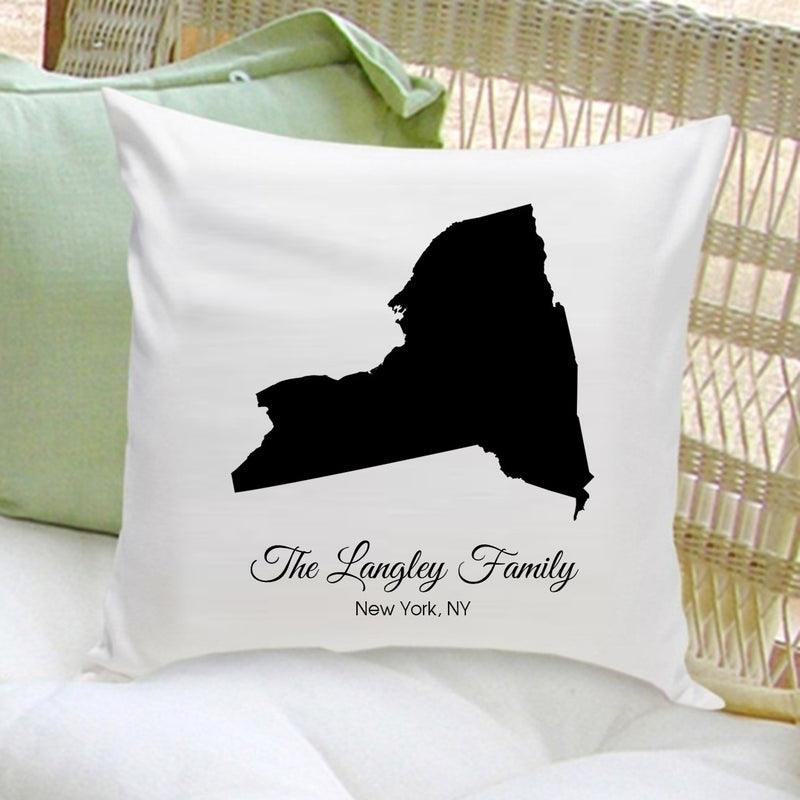 Personalized State Throw Pillow - Way Up Gifts