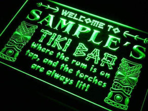Personalized Tiki Bar Neon Sign (LED)-Way Up Gifts