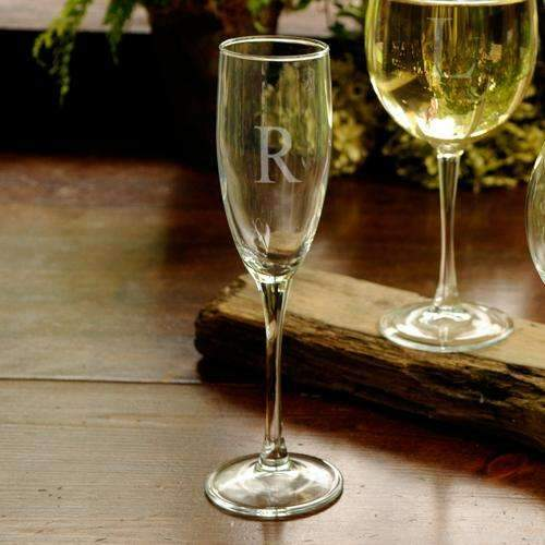 Personalized Toasting Glass Flute - Way Up Gifts