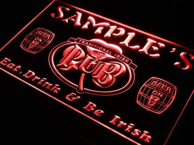 Personalized Traditional Irish Pub LED Neon Light Sign - Way Up Gifts