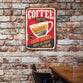 Personalized Vintage Coffee Sign Canvas