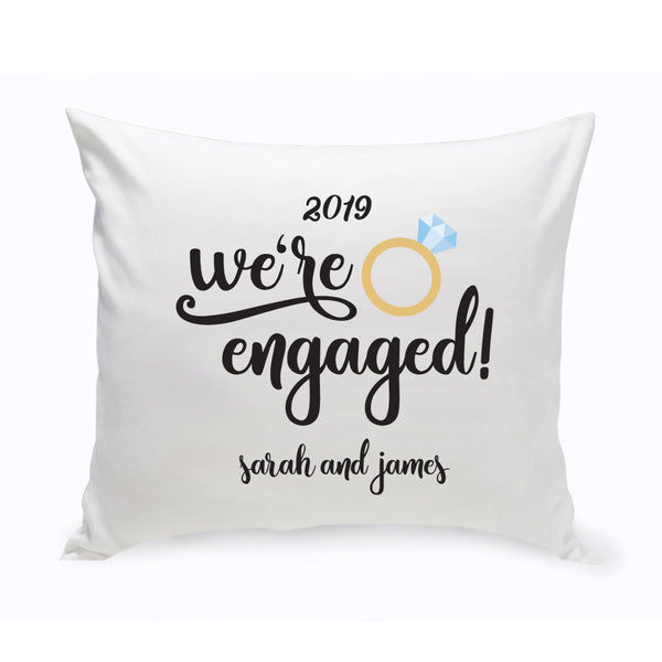 Personalized We're Engaged Throw Pillow - Way Up Gifts