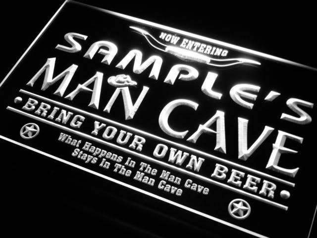 Personalized Western Man Cave LED Neon Light Sign - Way Up Gifts