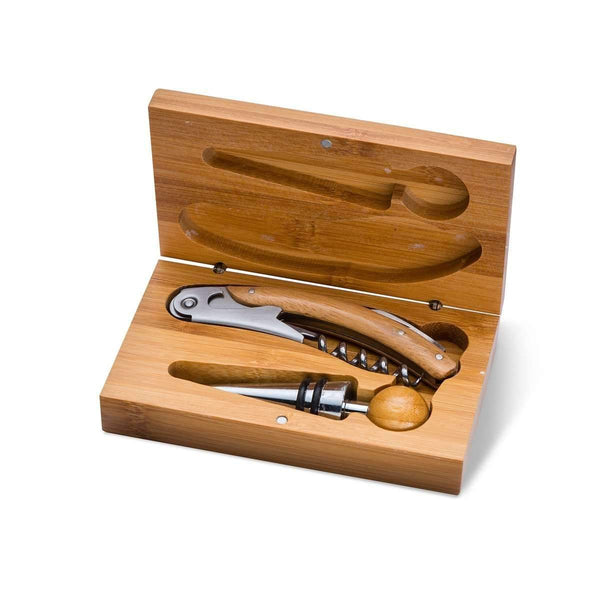 Personalized Bamboo Wine Tool Accessory Kit