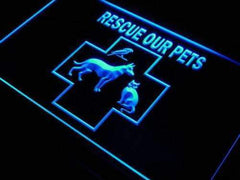 Pet Rescue LED Neon Light Sign
