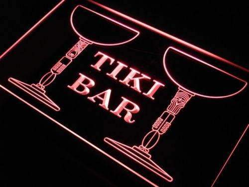 Pillars Tiki Bar LED Neon Light Sign - Way Up Gifts