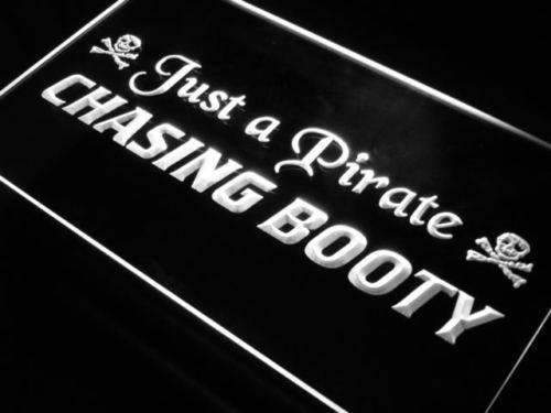 Pirate Chasing Booty LED Neon Light Sign - Way Up Gifts