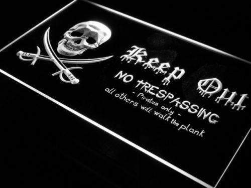 Pirate Keep Out LED Neon Light Sign - Way Up Gifts