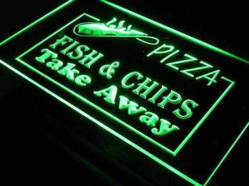 Pizza Fish Chips LED Neon Light Sign - Way Up Gifts