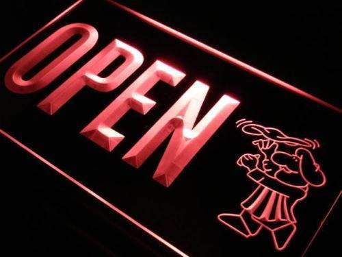 Pizzeria Chef Open LED Neon Light Sign - Way Up Gifts