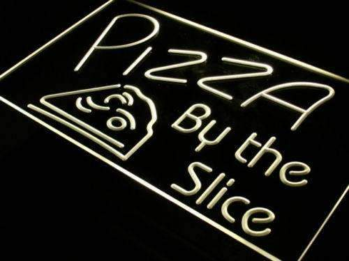 Pizzeria Pizza by the Slice LED Neon Light Sign - Way Up Gifts