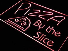 Pizzeria Pizza by the Slice LED Neon Light Sign