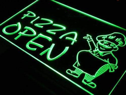Pizzeria Pizza Chef Open LED Neon Light Sign - Way Up Gifts