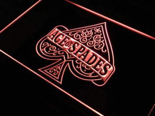 Poker Ace of Spades LED Neon Light Sign - Way Up Gifts