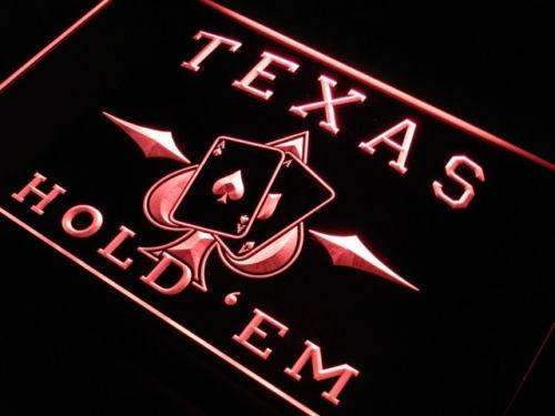 Poker Texas Hold Em LED Neon Light Sign - Way Up Gifts