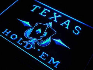 Poker Texas Hold Em Neon Sign (LED)-Way Up Gifts