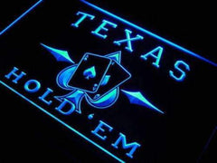 Poker Texas Hold Em LED Neon Light Sign
