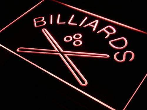 Pool Cues Billiards LED Neon Light Sign - Way Up Gifts