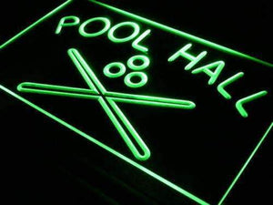 Pool Hall Neon Sign (LED)-Way Up Gifts