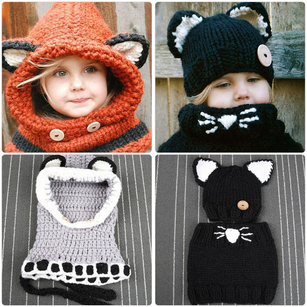 Handmade Knitted Baby Winter Hat & Scarf - Way Up Gifts