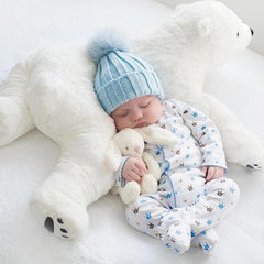 Stuffed Polar Bear Newborn Baby Pillow