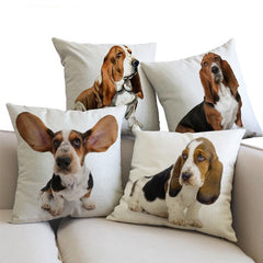 Basset Hound Pillow (Photo Print)