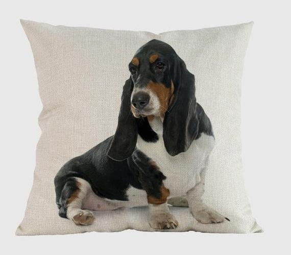 Basset Hound Pillow E / 14x14