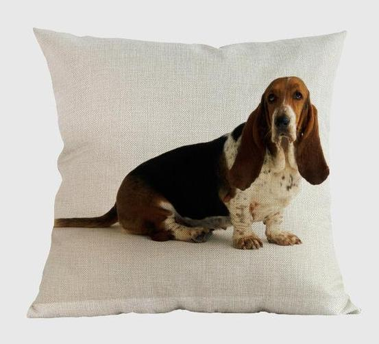 Basset Hound Pillow Y / 14x14