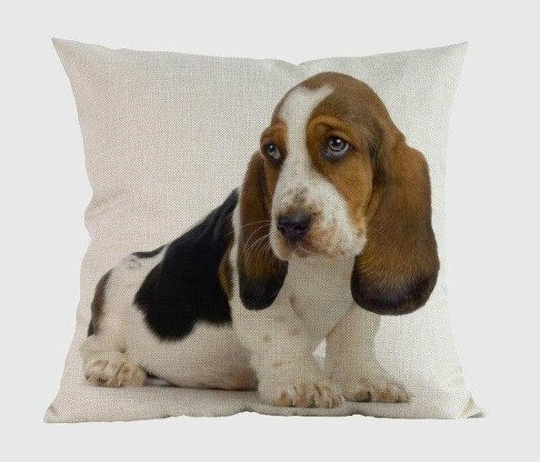 Basset Hound Pillow T / 14x14