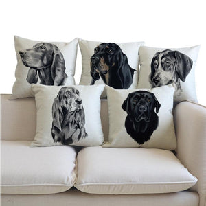 Black and Tan Coonhound Pillow (Photo Print)