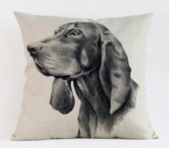 Black and Tan Coonhound Pillow - Way Up Gifts