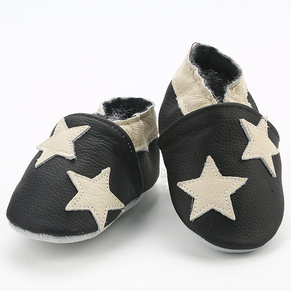 Genuine Leather Skid-Proof Baby Infant Shoes Stars / 3 Babies > Accessories > Shoes - Way Up Gifts