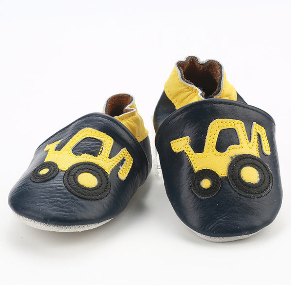Genuine Leather Skid-Proof Baby Infant Shoes Construction / 3 Babies > Accessories > Shoes - Way Up Gifts
