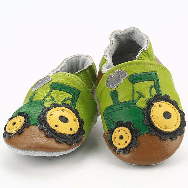Genuine Leather Skid-Proof Baby Infant Shoes Tractor / 3 Babies > Accessories > Shoes - Way Up Gifts