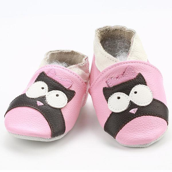 Genuine Leather Skid-Proof Baby Infant Shoes Owl / 3 Babies > Accessories > Shoes - Way Up Gifts