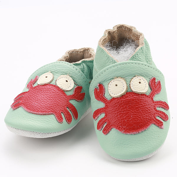 Genuine Leather Skid-Proof Baby Infant Shoes Crab / 3 Babies > Accessories > Shoes - Way Up Gifts