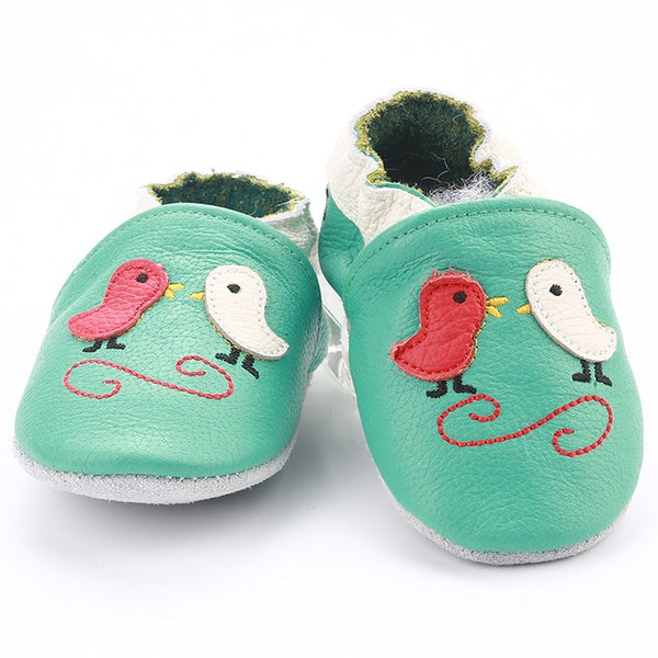 Genuine Leather Skid-Proof Baby Infant Shoes Birds Green / 3 Babies > Accessories > Shoes - Way Up Gifts