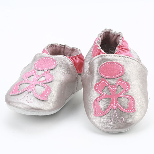 Genuine Leather Skid-Proof Baby Infant Shoes Butterfly / 3 Babies > Accessories > Shoes - Way Up Gifts