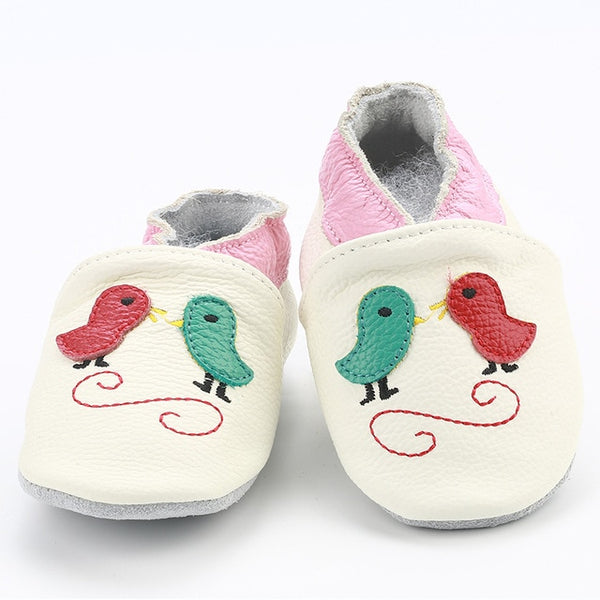 Genuine Leather Skid-Proof Baby Infant Shoes Birds White / 3 Babies > Accessories > Shoes - Way Up Gifts