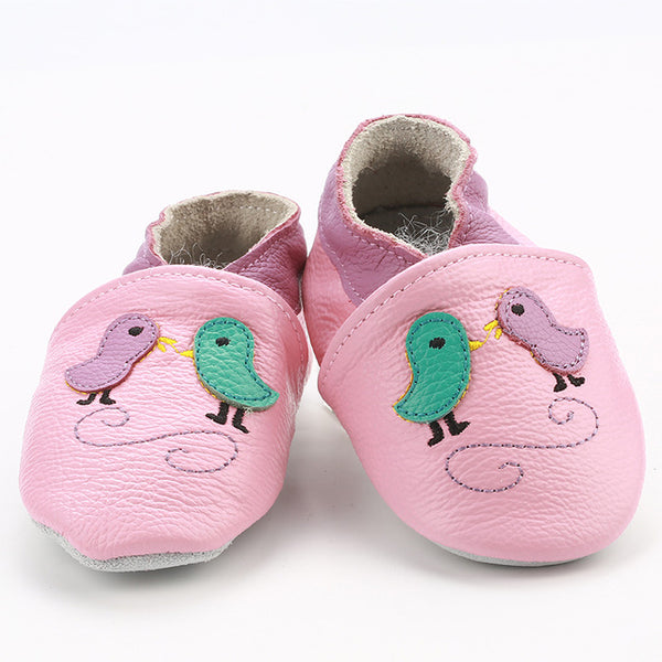 Genuine Leather Skid-Proof Baby Infant Shoes Birds Pink / 3 Babies > Accessories > Shoes - Way Up Gifts