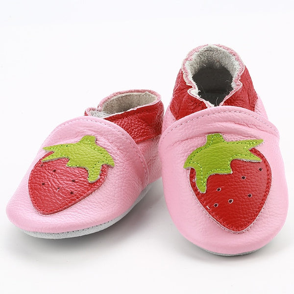 Genuine Leather Skid-Proof Baby Infant Shoes Strawberry / 6 Babies > Accessories > Shoes - Way Up Gifts