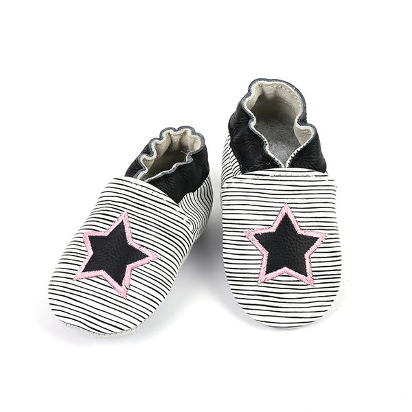 Genuine Leather Skid-Proof Baby Infant Shoes Girls Star / 6 Babies > Accessories > Shoes - Way Up Gifts