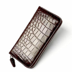 Handmade Crocodile Belly Long Card Holder Wallet