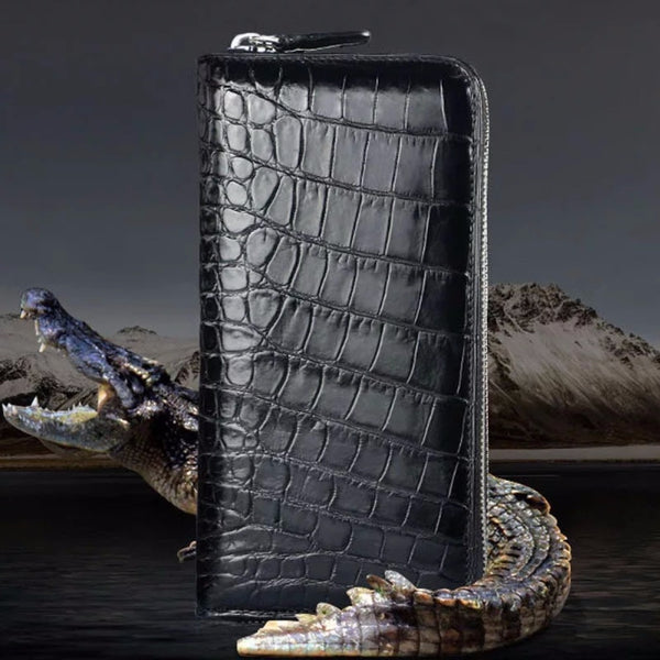 Handmade Premium Crocodile Belly Wallet | Large Card Holder