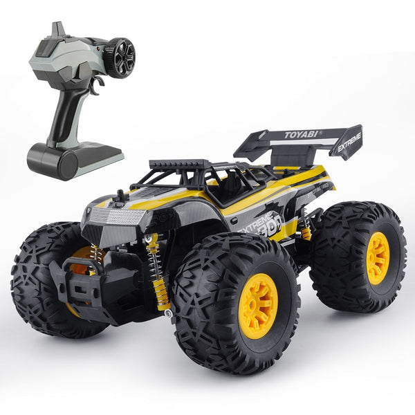Extreme Monster Truck Off Road RC Car 1:18 Yellow Kids > RC Electronics > RC Cars - Way Up Gifts