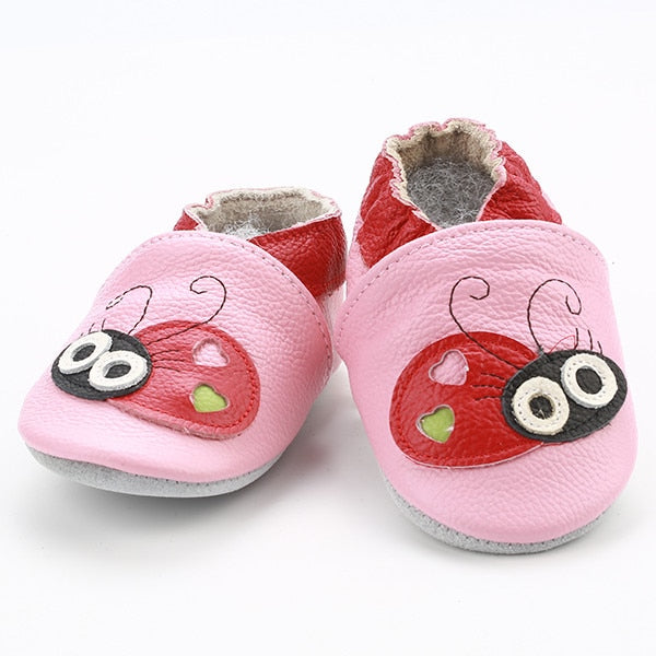 Genuine Leather Skid-Proof Baby Infant Shoes Lady Bug / 3 Babies > Accessories > Shoes - Way Up Gifts