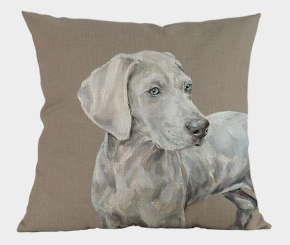 Weimaraner Pillow - Way Up Gifts