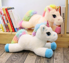 Giant Stuffed Unicorn Plush Toy (Rainbow)