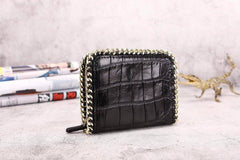 Handmade Premium Crocodile Belly Small Clutch Purse