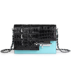 Handmade Luxury Crocodile Purse with Shoulder Chain